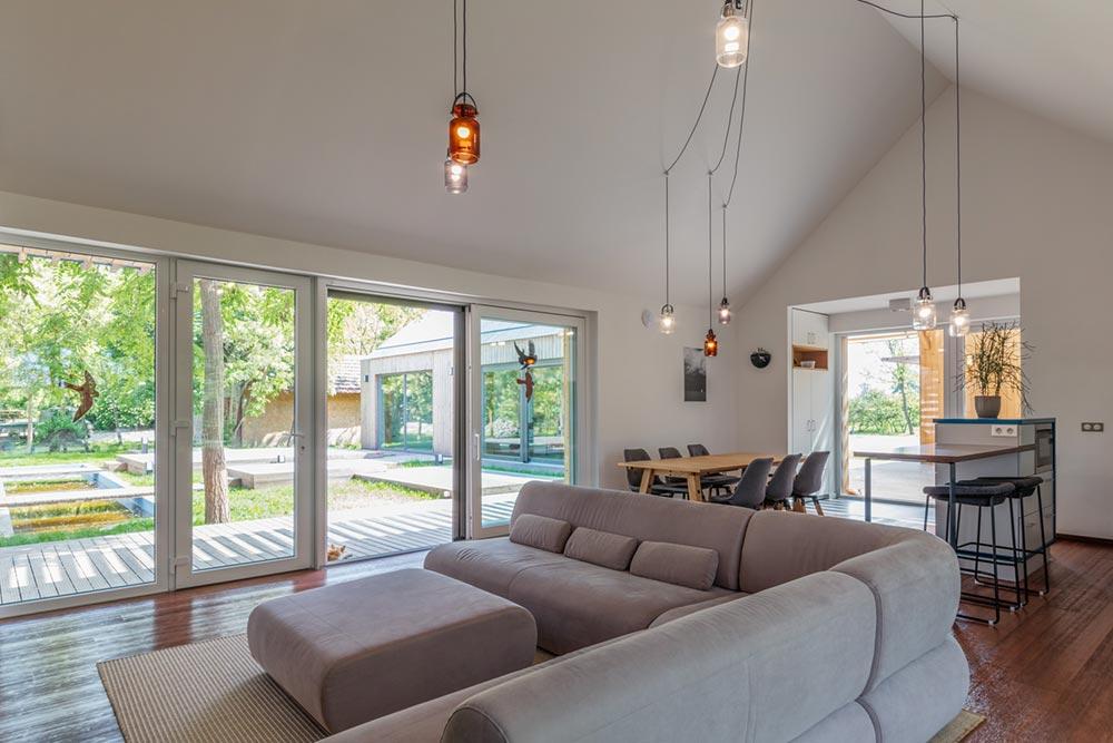 modern wooden house living arc - Modern Wooden House