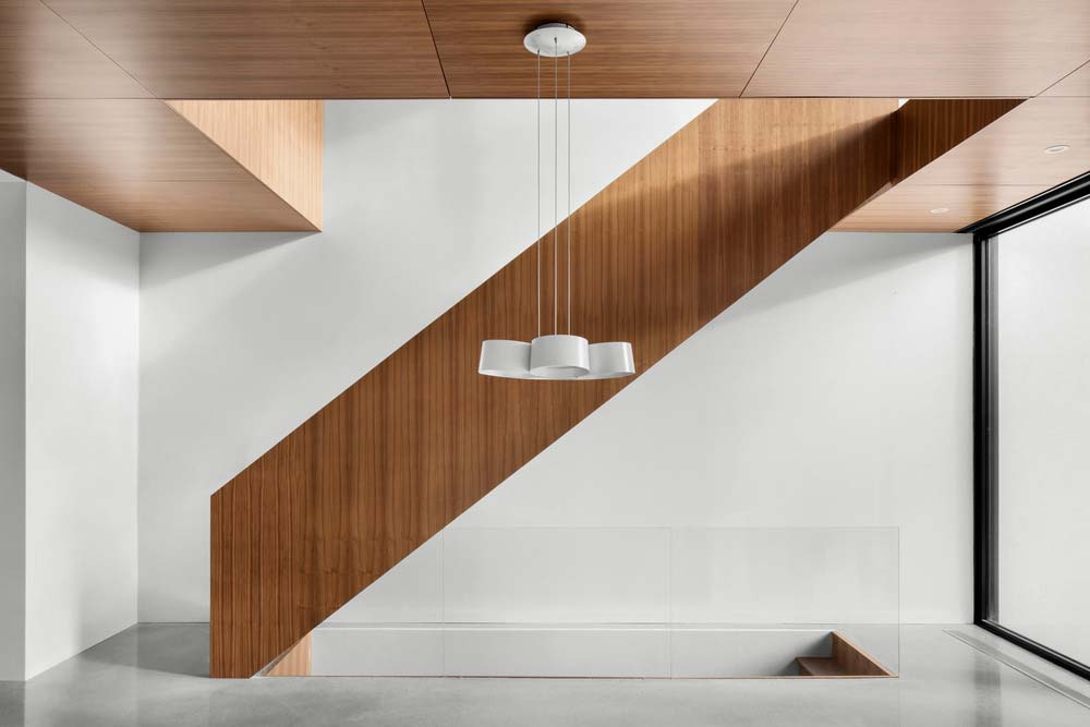 Modern wooden staircase design