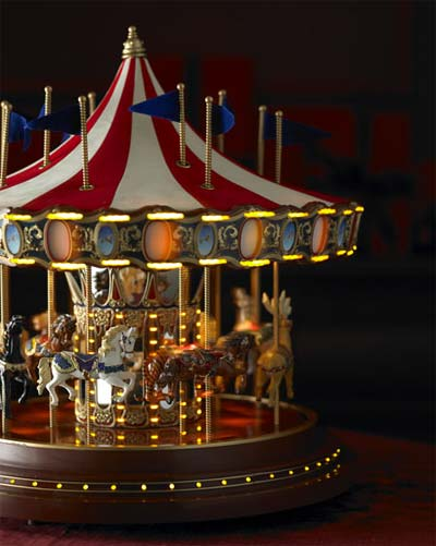 musical carousel christmas - Christmas Carousel Decoration