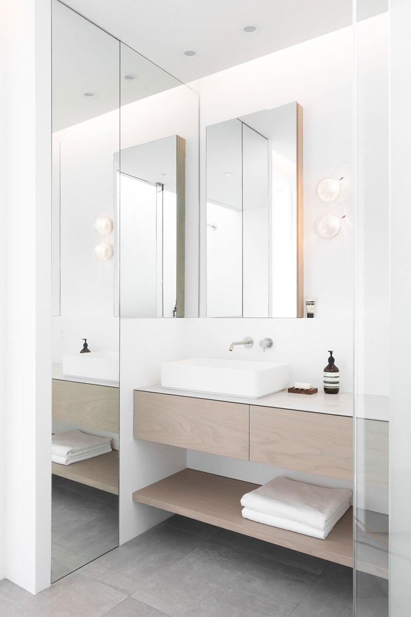 narrow home bathroom design - Saint George House