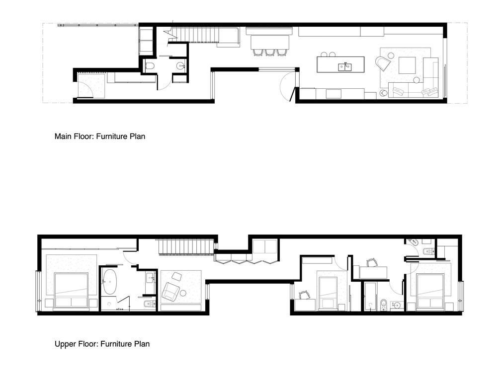 narrow home design plan - Saint George House