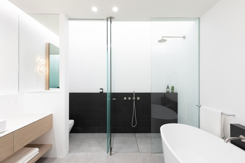 narrow home shower design - Saint George House