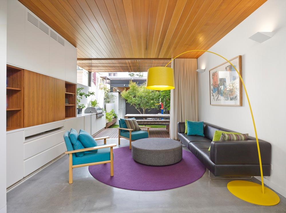 narrow lot house design living era - Courtyard House