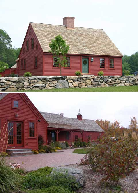 Early new england homes charmingly authentic modern for Newengland homes
