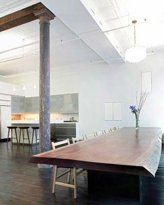 nyc loft design greene 1 - Greene Street Loft: Urban Columns