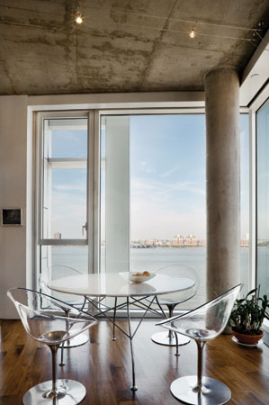 nyc loft design perry6 - Perry Street Residence: Loft With a View