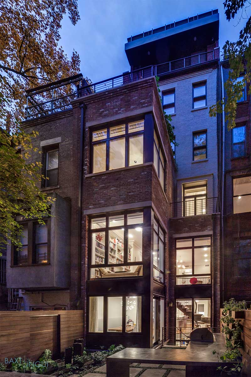 nyc townhouse design back - Manhattan's First Passive House