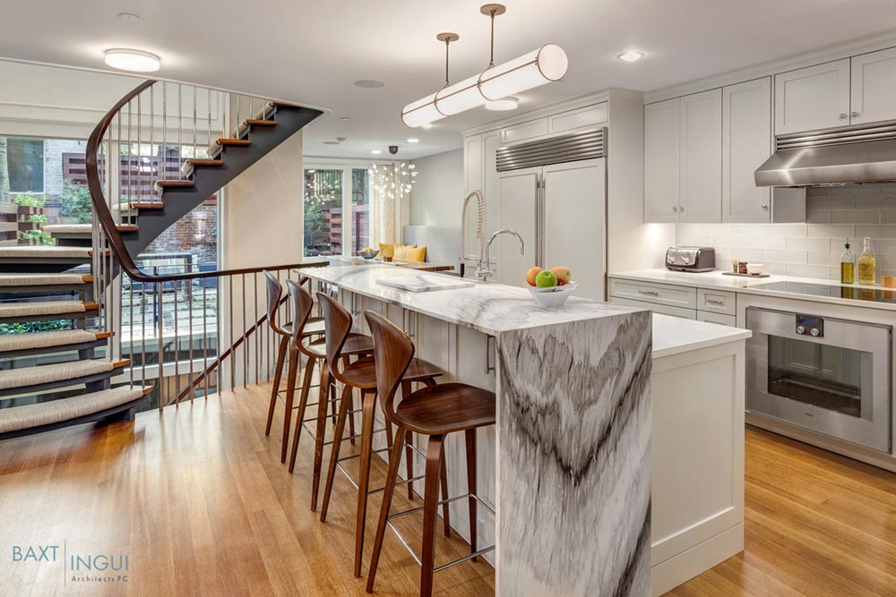 nyc townhouse design kitchen - Manhattan's First Passive House