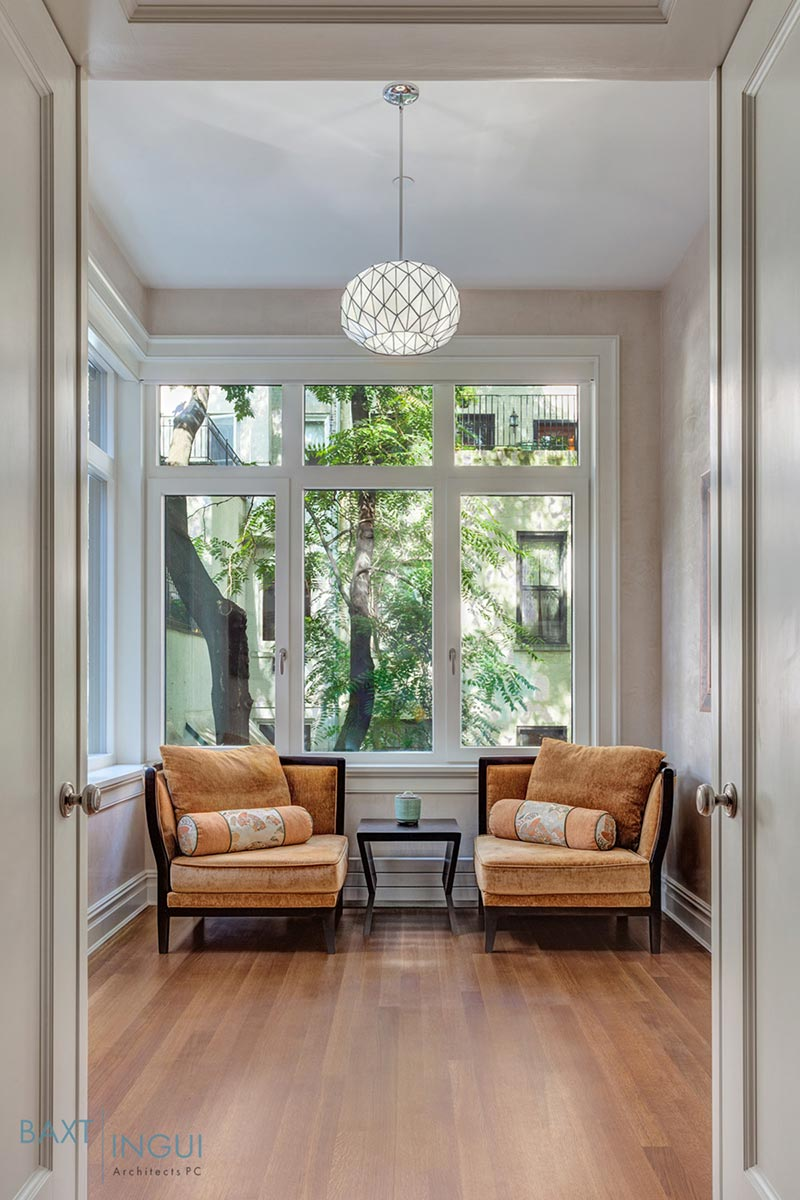 nyc townhouse design lounge - Manhattan's First Passive House