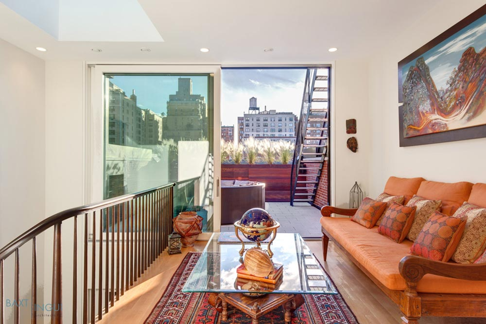 nyc townhouse design terrace - Manhattan's First Passive House
