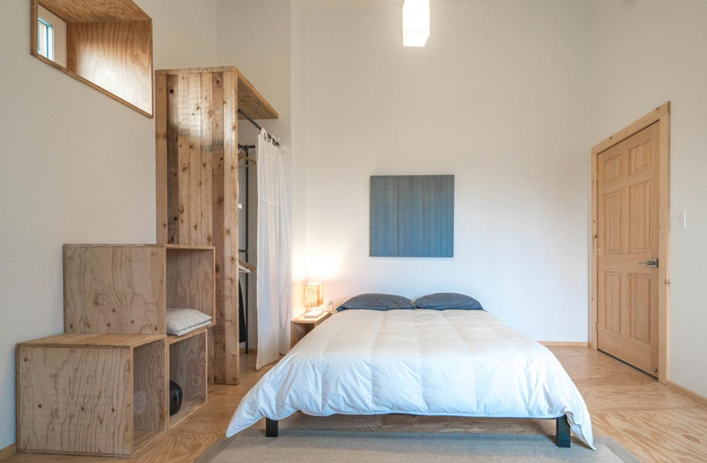 offgrid passive house design bedroom am - MARTaK Passive House