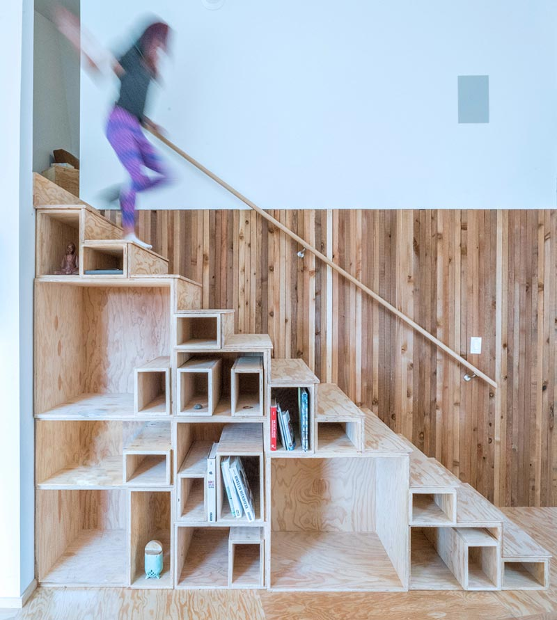 offgrid passive house design stairs am - MARTaK Passive House
