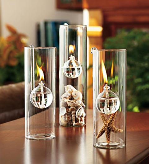 Glass oil lamps: illuminate the atmosphere - Candles & Holders