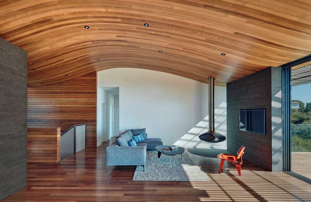 Open plan family home living room design