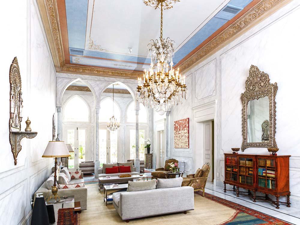 oriental villa ceiling design - Villa Assouad