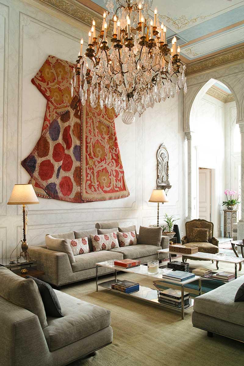 oriental villa tapestry - Villa Assouad
