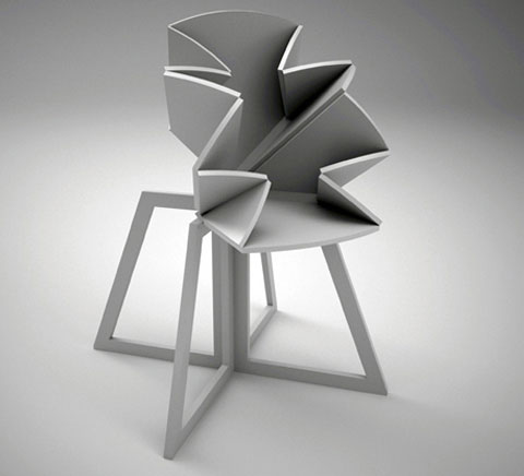 origami folding table 3 - Grand Central: origami style folding table