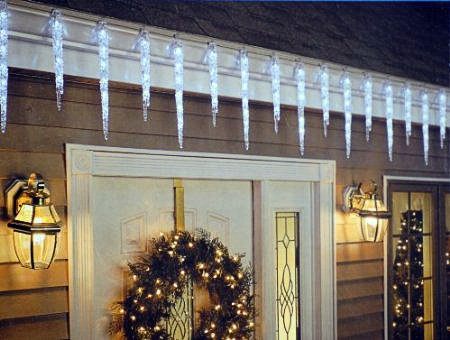 Icicle lights lightshow of shooting stars holiday decor outdoor holiday decor aloadofball Gallery
