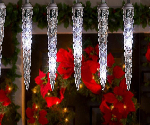 Icicle lights lightshow of shooting stars holiday decor outdoor holiday lights aloadofball Choice Image