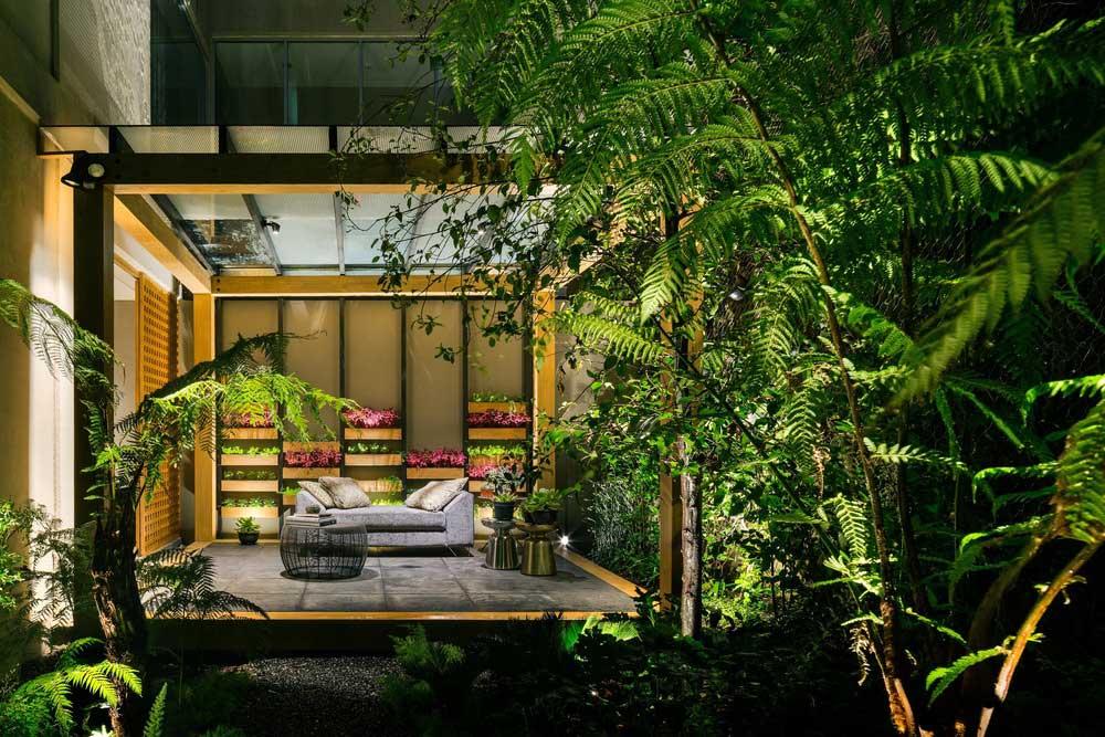 outdoor lounge space design asp - Villa Jardin
