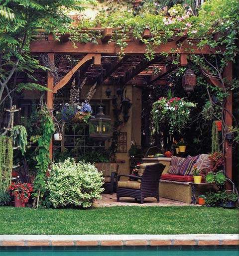 Sandy koepke an interior garden designer beautiful for Garden sit out designs