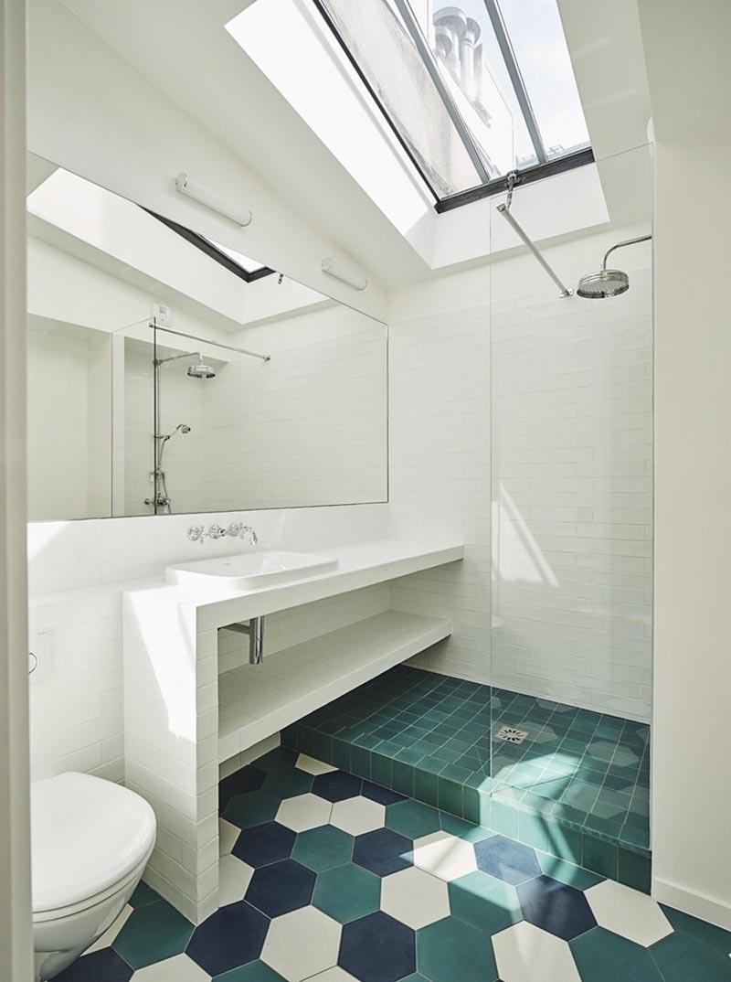 parisian family home bathroom design abc - A Parisian Family Home
