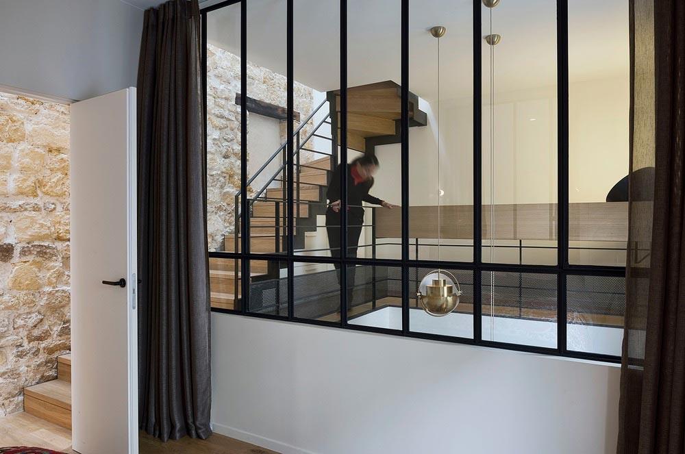 parisian family home glass design abc - A Parisian Family Home
