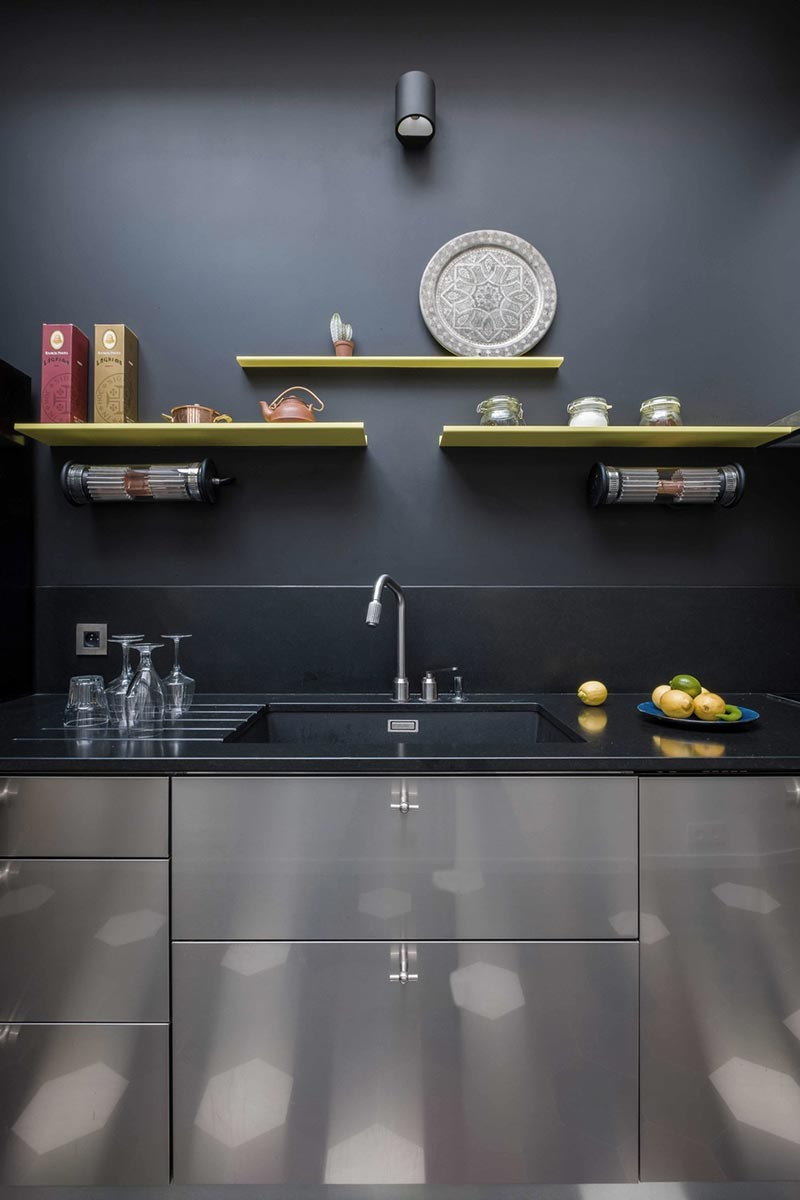 parisian family home kitchen design abc - A Parisian Family Home
