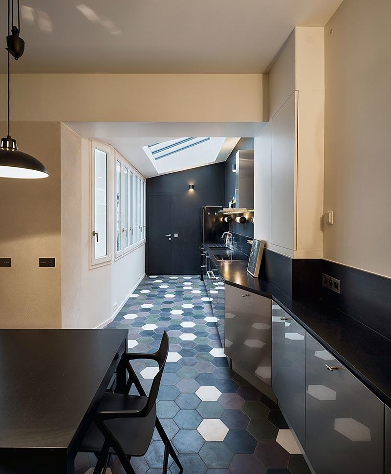 parisian family home kitchen design abc2 - A Parisian Family Home