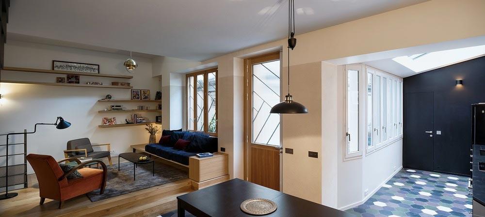 parisian family home space design abc2 - A Parisian Family Home