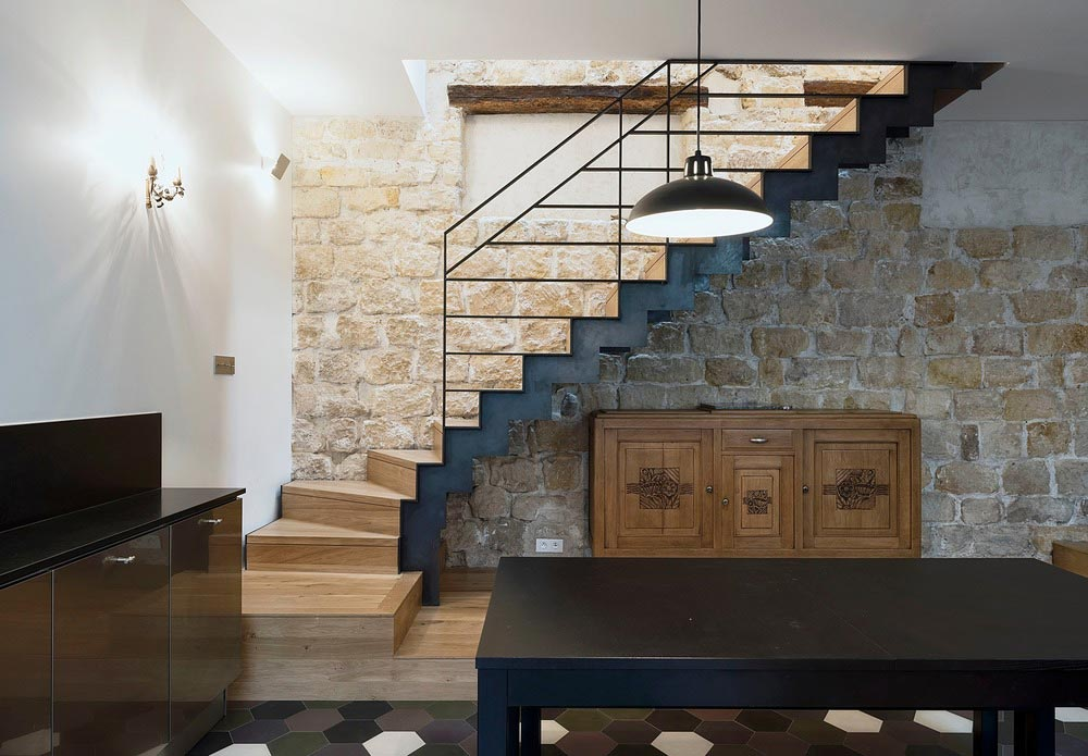 parisian family home stairs design abc - A Parisian Family Home