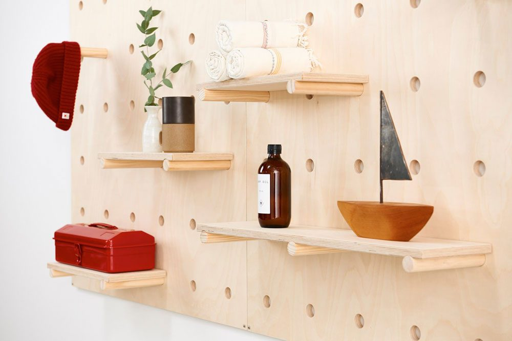 6c1b01ff944 Pegboard Modular Shelving To Store And Display Your Favorite Stuff