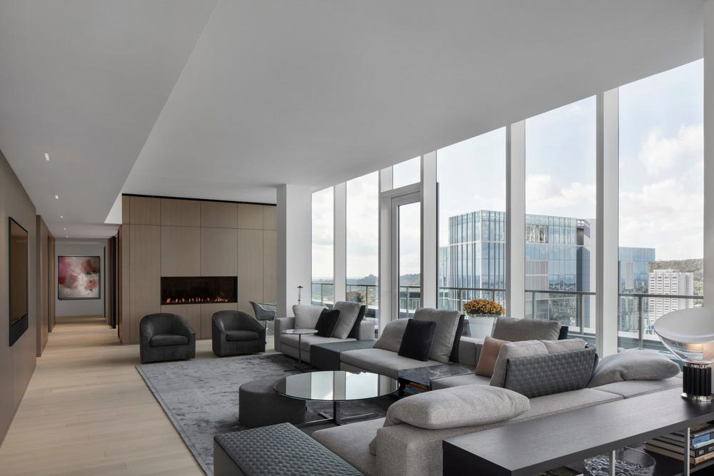 penthouse living room design - Belvedere Penthouse