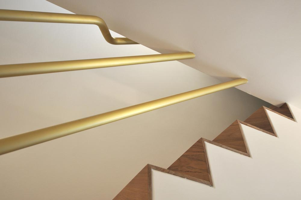 penthouse staicase brass handrails - CDR Penthouse