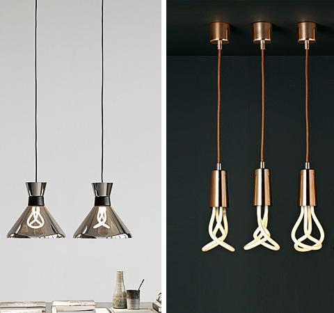 Plumen 001Low-Energy Lightbulb + Pharaoh shade + Drop Cap Pendant
