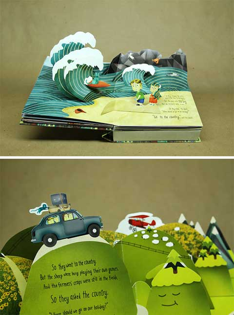 pop up storybook template - nokia pop up book promotional pop pop up books