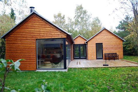 Mon huset danish modular summer cabins prefab cabins for Small modular cabins and cottages