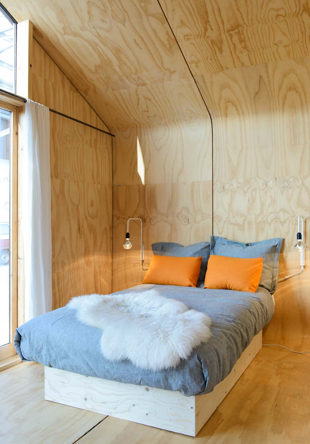 Small prefab cabin bedroom