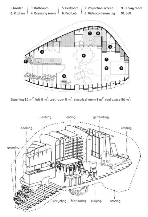 prefab home plan fablab1 - Prefab FabLab: Your Solar House