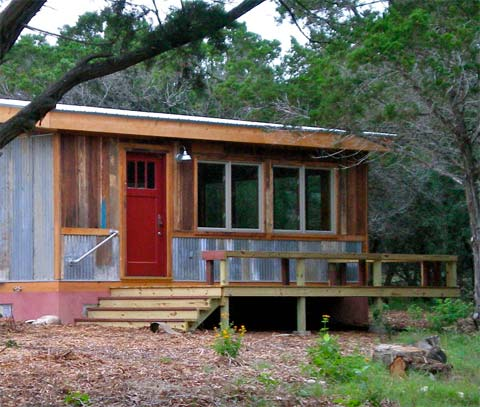 Reclaimed space sustainable prefabs prefab cabins for Reclaimed house materials