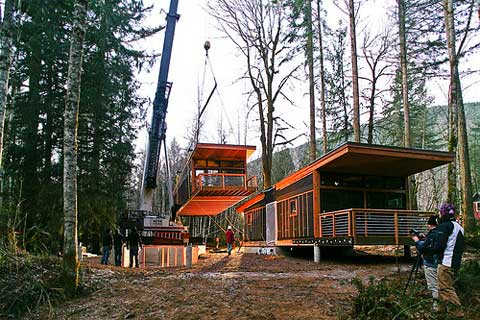 Interview method homes prefab design construction for Prefabricated homes seattle