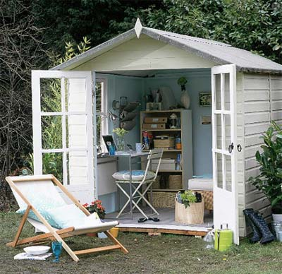 Home office shed prefab shed for Prefab garden sheds