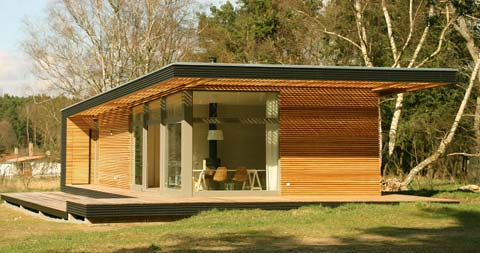 Prefab summer house prefab cabins for Piani di cottage modulari