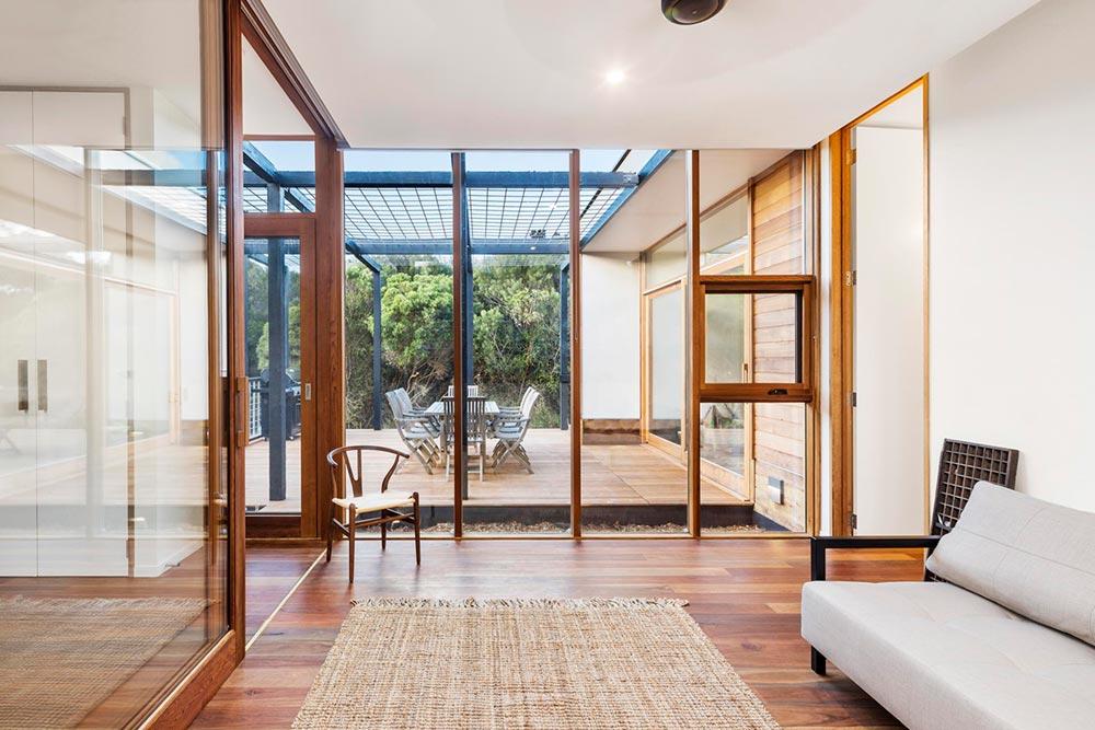 Indoor outdoor prefab vacation home