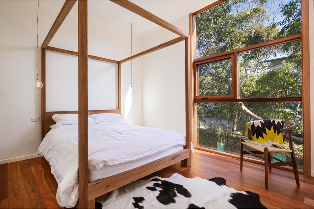Prefab vacation home master bedroom