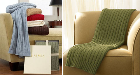 Ralph Lauren Cable Throw Blanket: Show Off The Cover