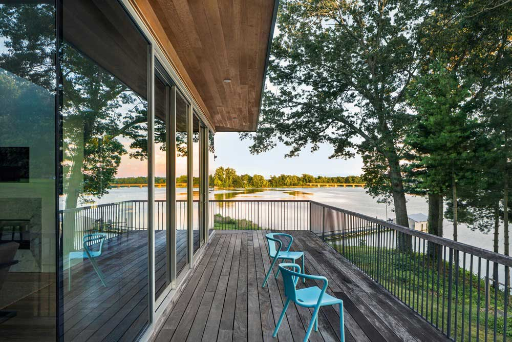 ranch house deck design bfdo - Deep Point Road House