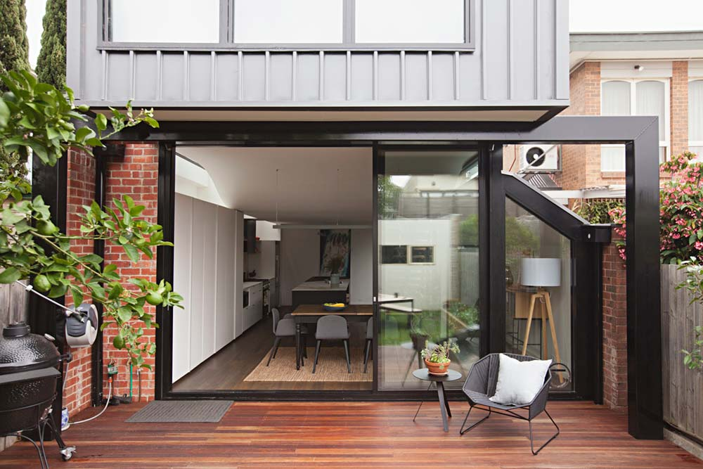rear house extension design ra - Perched House Extension