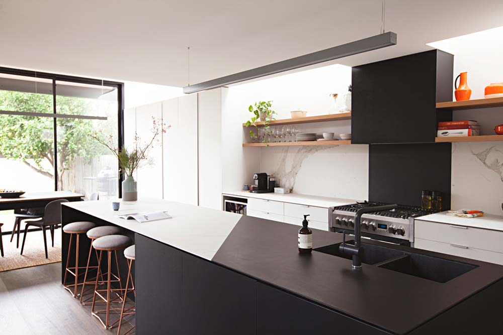 rear house extension kitchen ra - Perched House Extension