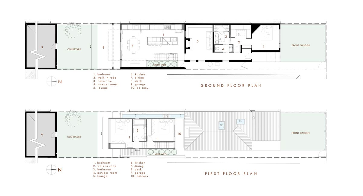 rear house extension plan ra - Perched House Extension